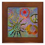 Framed Tile chakra symbols
