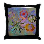 Throw Pillow chakra symbols
