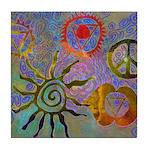 Tile Coaster chakra symbols