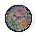 Wall Clock chakra symbols