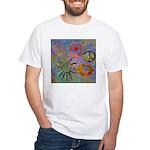 White T-Shirt chakra sybmols