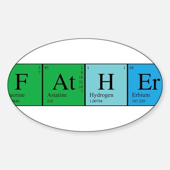Periodic Father Sticker (Oval)
