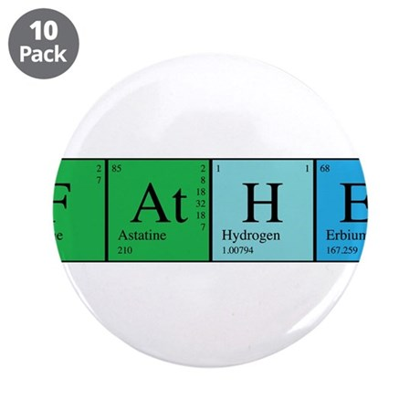 "Periodic Father 3.5"" Button (10 pack)"