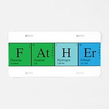 Periodic Father Aluminum License Plate
