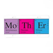 Periodic Mother Aluminum License Plate