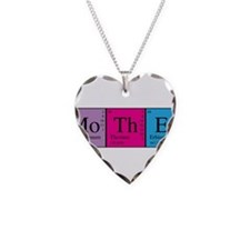 Periodic Mother Necklace Heart Charm