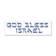God Bless Israel Car Magnet 10 x 3