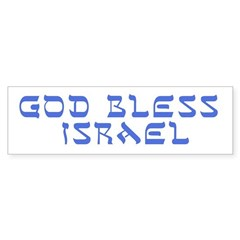 God Bless Israel Bumper Sticker