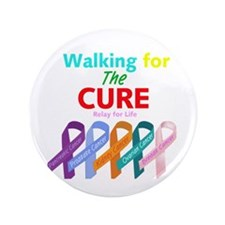 """Walking for the CURE 3.5"""" Button (100 pack)"""