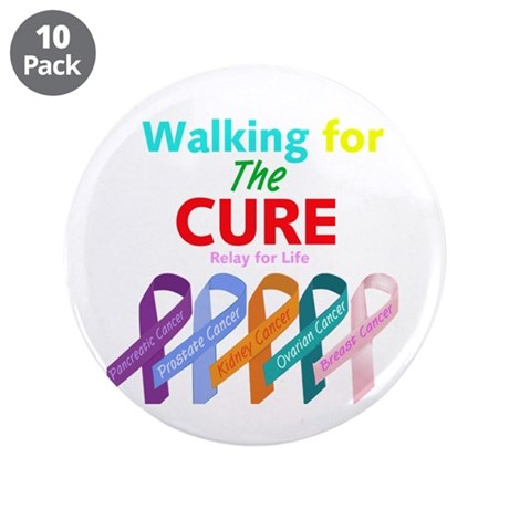 "Walking for the CURE 3.5"" Button (10 pack)"