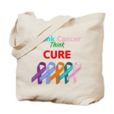 Think Cancer, Think CURE Tote Bag
