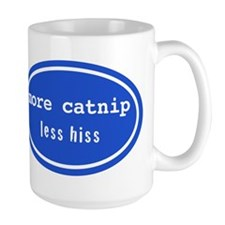More catnip less hiss (Large Mug)
