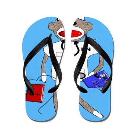 Sock Monkey Flip Flops