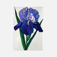 Stained Glass Iris Rectangle Magnet