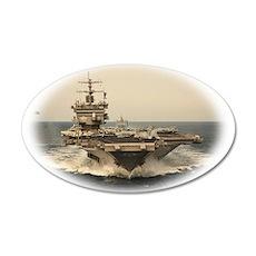 USS Enterprise 22x14 Oval Wall Peel