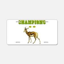 Springbok Rugby Champions Aluminum License Plate