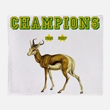 Springbok Rugby Champions Throw Blanket