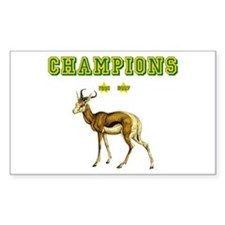 Springbok Rugby Champions Decal