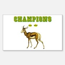 Springbok Rugby Champions Sticker (Rectangle)