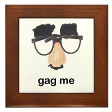 Nose Glasses Gag Framed Tile