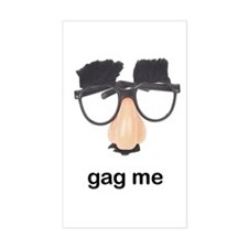 Nose Glasses Gag Rectangle Decal