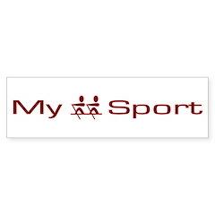 My Sport - Rowing / Crew Racing Sticker (Bumper)
