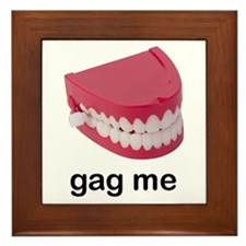 Wind Up Teeth Gag Framed Tile