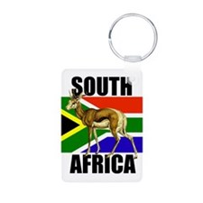South Africa Springbok Aluminum Photo Keychain