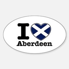 I love Aberdeen Sticker (Oval)