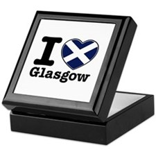 I love Glasgow Keepsake Box