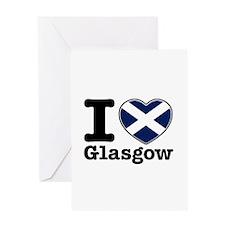 I love Glasgow Greeting Card