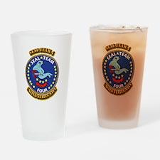 US - NAVY - Seal Team 4 Drinking Glass