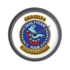 US - NAVY - Seal Team 4 Wall Clock