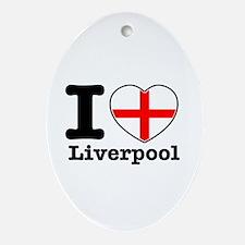I love Liverpool Ornament (Oval)