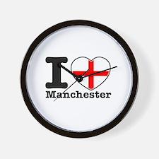 I love Manchester Wall Clock