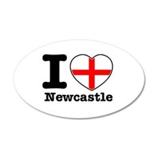 I love Newcastle 22x14 Oval Wall Peel