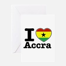 I love Accra Greeting Card