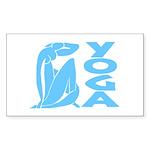 Let's Yoga Sticker (Rectangle 50 pk)