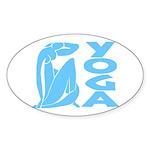 Let's Yoga Sticker (Oval 50 pk)