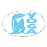 Let's Yoga Sticker (Oval 10 pk)