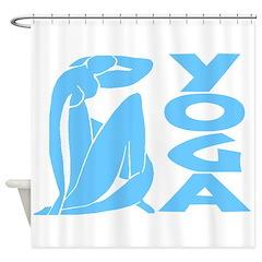 Let's Yoga Shower Curtain