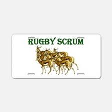 Springbok Rugby Scrum Aluminum License Plate