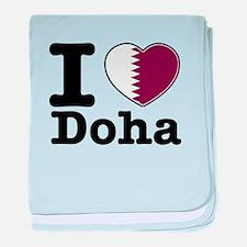 I love Doha baby blanket