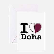 I love Doha Greeting Card