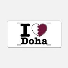 I love Doha Aluminum License Plate