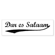 Vintage Dar es Salaam Bumper Bumper Sticker