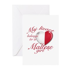 Maltese Valentine's designs Greeting Cards (Pk of