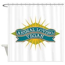 Animal Loving Vegan Shower Curtain