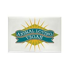 Animal Loving Vegan Rectangle Magnet (10 pack)