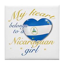 Nicaraguan Valentine's designs Tile Coaster